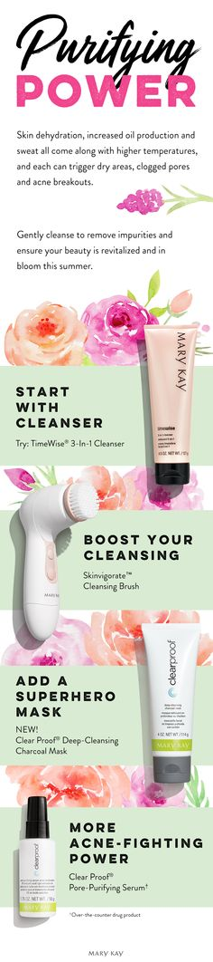Summer is a great time to purify! Keep your beauty in full bloom with a skin care regimen designed to remove impurities. | Mary Kay