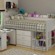 Kids Bunk Beds with Storage Elegant Kids Loft Bed Storage Books Modern Beds Ideal – Saltandblues Bunk Bed With Desk, Bunk Beds With Stairs, Kids Bunk Beds, Low Loft Beds, Trendy Bedroom, Kids Bedroom, Bedroom Ideas, Bedroom Small, Bedroom Loft