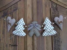 Weihnachtsdeko - Girlande Lebkuchenmann braun / beige - 01830 - ein Designerstück von Detalles bei DaWanda