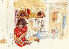 (Korea) by Chun Kyung-ja (1924-2015). 천경자.
