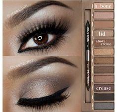 Steps Using Urban Decay Naked Palette. Minus all the eyeliner. Paleta Urban Decay, Urban Decay Smoky, Love Makeup, Hair Makeup, Amazing Makeup, Gorgeous Makeup, Dance Makeup, Sleek Makeup, Makeup Eyes