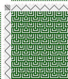 draft image: Figurierte Muster Pl. XXVIII Nr. 7 (a), Die färbige Gewebemusterung, Franz Donat, 6S, 6T Weaving Designs, Weaving Projects, Weaving Patterns, Mosaic Patterns, Stitch Patterns, Loom Knitting, Knitting Stitches, Knitting Designs, Knitting Patterns