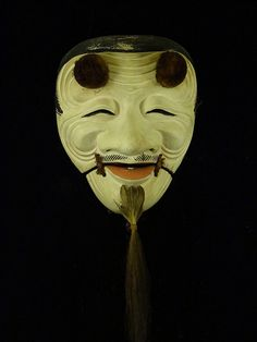 Oji-san Noh Mask -- moveable lower face