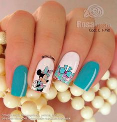 • Nail Design 미키/미니마우스네일 캐릭터네일 디자인 모음! : 네이버 블로그 Mickey Mouse Nail Art, Minnie Mouse Nails, Mickey Mouse Nails, Little Girl Nails, Girls Nails, Disney Acrylic Nails, Lavender Nails, Gold Nail Art, Funky Nails