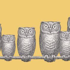 Owl Wallpaper by Cole and Son fornasetti 2 Available at De Jonge, Gescher & Kemper. Amsterdam www. Fornasetti Wallpaper, Owl Wallpaper, Piero Fornasetti, Wallpaper Online, Animal Wallpaper, Wallpaper Roll, Pattern Wallpaper, Kitchen Wallpaper, Ideas