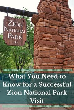 What You Need to Know for a Successful Zion National Park  Visit - Utah, United States