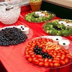 groenten bord sesamstraat. -CE-