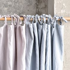 Ashes of rose. Washed linen curtains/ linen by notPERFECTLINEN