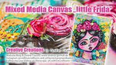 Mixed Media Canvas: little Frida Kahlo - Art Collaboration with Ayala Art