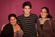 Adam Lambert & Xochitl Barajas (@xbarajas). Pic taken on March 30th, 2012 during the radio station/promotional tour for Trespassing in San Diego.