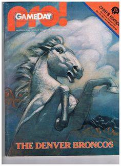 1981 Gameday Pro Magazine  NFL  KC Chiefs Edition  Broncos Cover