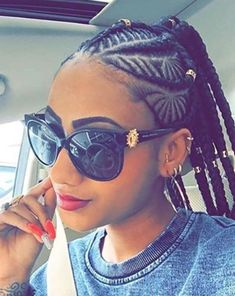 Dope braid pattern by @hajia4reall  Read the article here - http://blackhairinformation.com/hairstyle-gallery/dope-braid-pattern-hajia4reall/