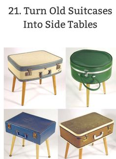 DIY Upcycle Old suitcases Into Tables!