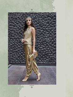 #Brown Imported #Dhoti-Suit with Dupatta - #LATEST-SALWAR KAMEEZ-Design