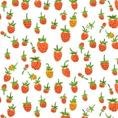 Heather Ross Briar Rose berries red orange FQ or more by claydeal