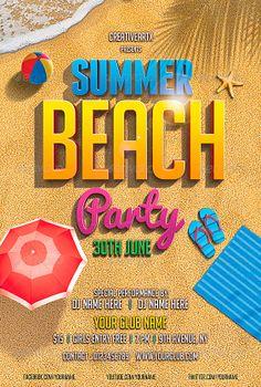 Beach Party Flyer Template - http://www.ffflyer.com/beach-party-flyer-template/ Beach Party flyer template #Beach, #Club, #Dj, #Party, #Pool, #Summer, #Sun, #Typo