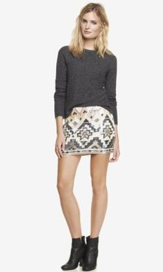 Loving this skirt!  SEQUIN EMBELLISHED MINI SKIRT from EXPRESS