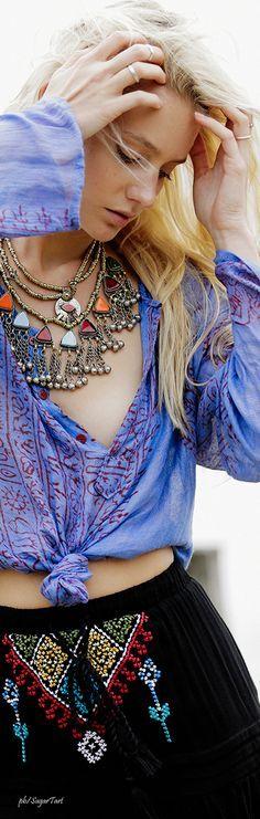 That necklace...Boho Fashion