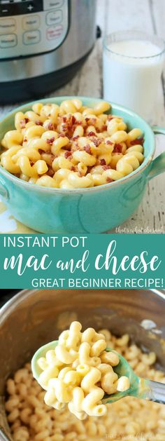 How to Make Mac and Cheese in the Instant Pot. Great Instant Pot Beginner Recipe.  Only 4 minute cook time and 10 minute total time!