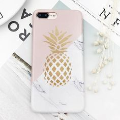 LACK Soft IMD Marble Phone Case For iphone 7 Case Stone Pattern Geometric Splice Cover Gold Pineapple Cases For iphone 7 Plus #Iphone,