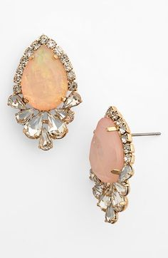 BP. Crystal Framed Teardrop Stud Earrings | Nordstrom