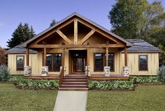 Modular Home Builders, Modular Homes, Building A Porch, Building A House, Building Ideas, Building Homes, Casa Hotel, Porch Kits, Porch Ideas