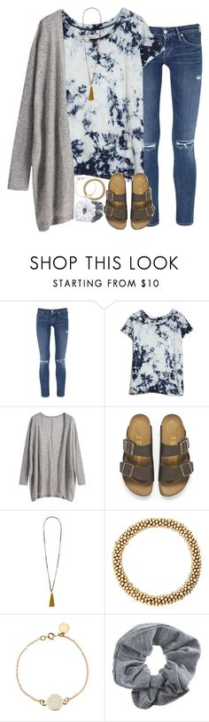 """""""when there's a dance at school but you're to lazy to go"""" by sarahc01 ❤ liked on Polyvore featuring Citizens of Humanity, Current/Elliott, Birkenstock, French Connection, Marc by Marc Jacobs, Topshop and Natasha"""