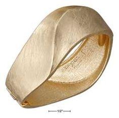 Gold Tone Modern Bangle Bracelet
