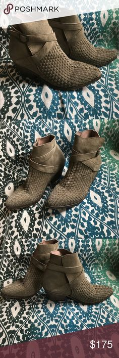 ✨FREE PEOPLE✨ Weave Ankle Boot Women's Size 38 Genuine Leather Ankle Strap Buckle / NEW WITHOUT BOX! Free People Shoes Ankle Boots & Booties