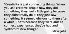 Creativity #quote by Steve Jobs