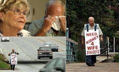 Un hombre hace todo lo que puede para ayudar a salvar la vida de su esposa.
