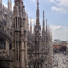 Hard to get a picture without all the scaffolding. Take the stairs to the top. Absolutely amazing! Discovered by Charlene Wiscombe at Duomo di Milano, #Milan, #Italy
