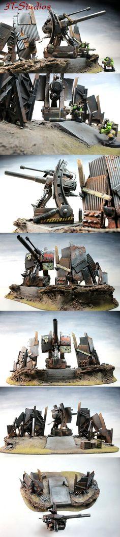 Artillery, Basilisk, Looted, Orks, Scrap, Terrain, Terrrain