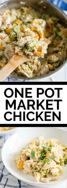 One Pot Garden Market Chicken via @spaceshipslb