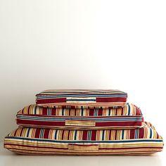 Hudson Stripe Dog Bed Cover