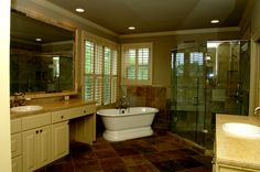 Rick Perry's rental mansion has seven bathrooms, including this one.
