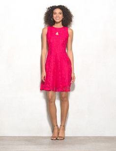 Petite Lace Keyhole Dress (original price, $56.00) available at #Dressbarn