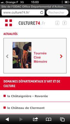 Après la réalisation technique du site de l'ODAC (Office départemental d'action culturelle de Haute-Savoie), www.imagescreations.fr publie la version mobile du site. A suivre très bientôt deux applications iPhone et Android !
