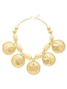 Gold & Diamond Sand Dollar Bib Necklace by Oscar de la Renta at Gilt $8,500