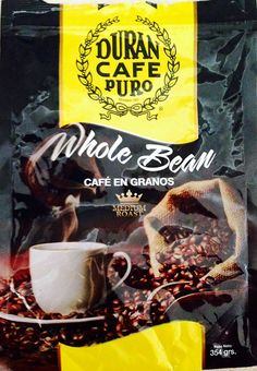Café Duran Highest Quality Best Panama Whole Roasted Coffee Beans 360gr (12.7oz) ** Startling review available here at : Fresh Groceries
