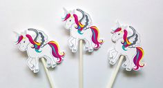 Unicorn Cupcake Toppers Unicorn Party by CraftyCue on Etsy