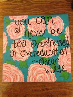 #canvas #lillypulitzer #oscarwilde