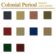 Historic Color Palette Federal Style Artsparx Color