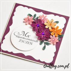 quilling, husking, greeting card, birthday, handmade, paperart, craft, autumn, quilling.com.pl