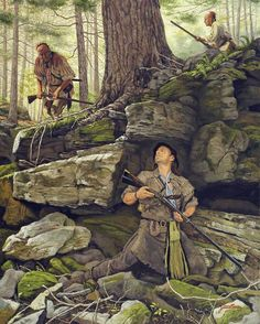 A Matching of Instincts by Dann Jacobus :: Historical & Wildlife Art