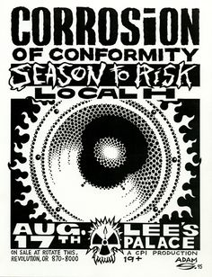 GigPosters.com - Corrosion Of Conformity - Season To Risk - Local H