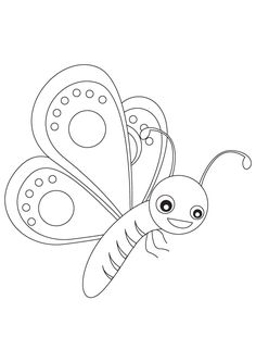 Kids Butterfly Coloring Pages For Preschool