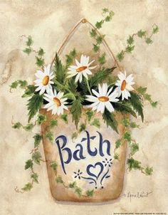 Daisies in the Bath by Annie Lapoint