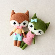 Pocket Fox pdf Pattern - Flicker and Twizzle by Gingermelon on Etsy