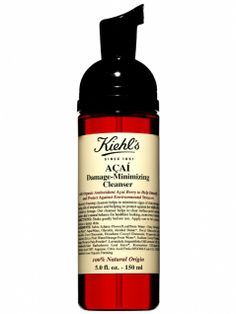 Kiehl's Acai Damage-Minimizing CleanserThis 100% organic face wash promises to wipe away not only dirt and makeup, but also the first signs of aging. How, you ask? The gentle sudsy formula treats skin with aça í extract -- the Brazilian super-berry is one of nature's most powerful topical antioxidants -- as it cleanses.     Get it now: Kiehl's Aça í Damage-Minimizing Cleanser, $24.50